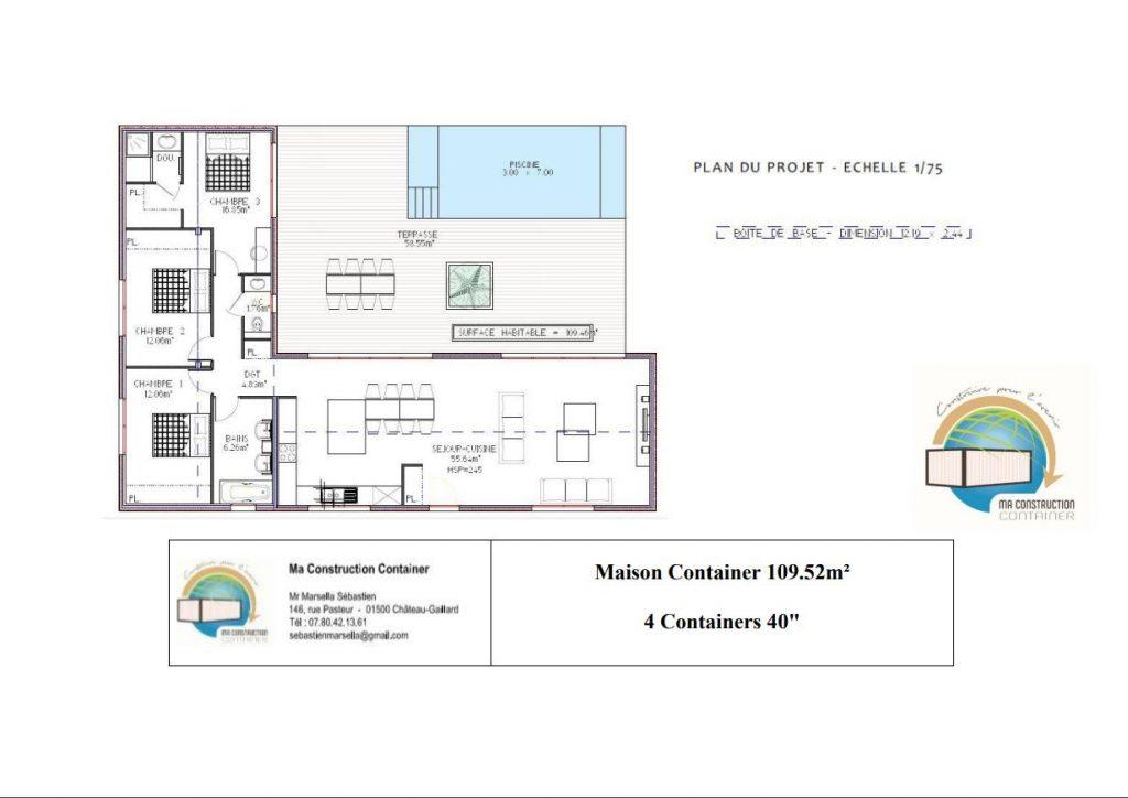 Maison Container JADE - 109,52m²
