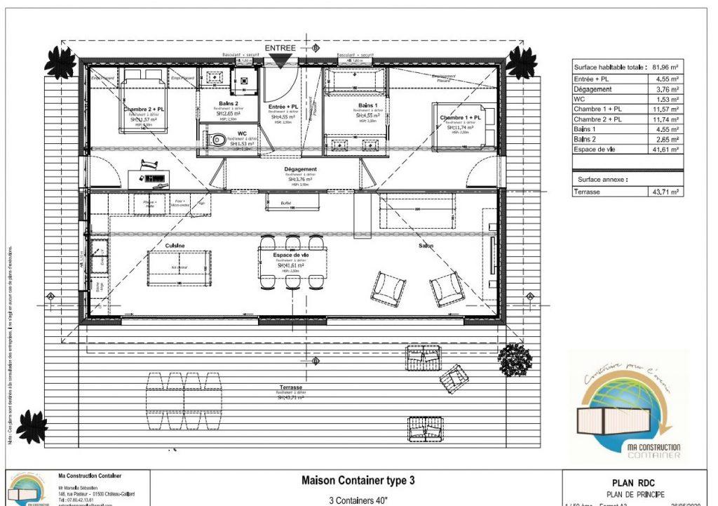 Maison Container OPALE - 81,96 m²
